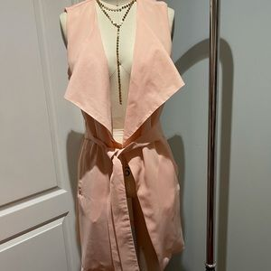 Haoduoyi Pink Drapey Vest with Belt size XXL